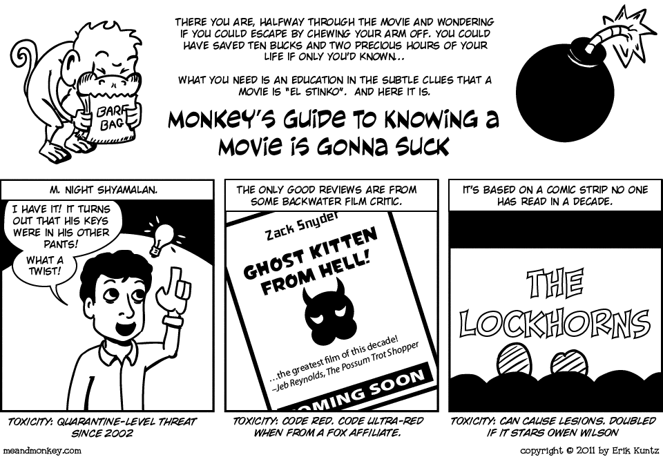 Monkey's Guide to Spotting Sucky Movies