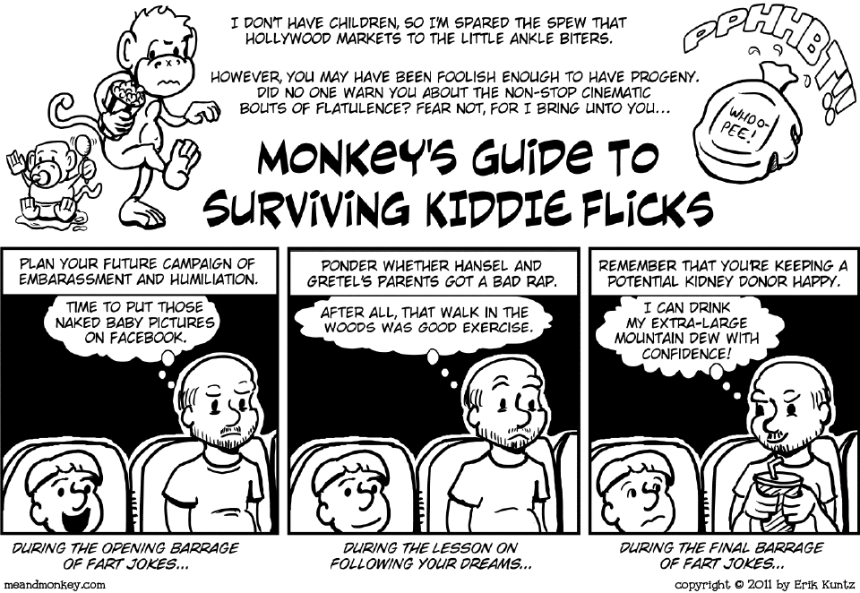 Monkey's Kiddie Flick Survival Guide